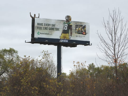 A fog device on this billboard along State 172 in Bellevue