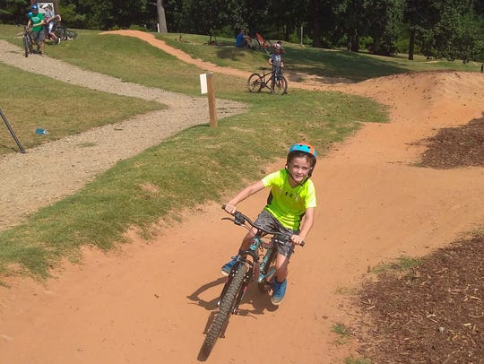 Kids can practice their mountain biking on tracks at
