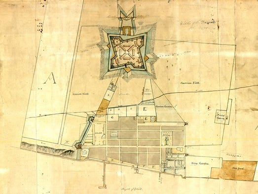 A rare, hand-drawn 1790 map of Detroit has been discovered