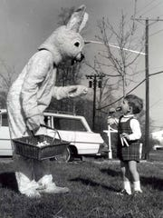 1968: Child with Easter bunny