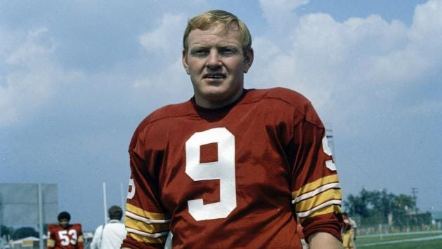 Sonny Jurgensen is a former quarterback for the Washington Redskins.