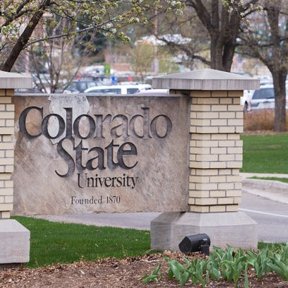 The Colorado State university entrance sign.