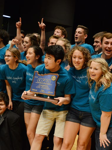 South Salem High School wins the full orchestra competition at the 2015 OSAA Orchestra State Championships on Thursday, May 14, 2015, at the LaSells Stewart Center at Oregon State University in Corvallis.