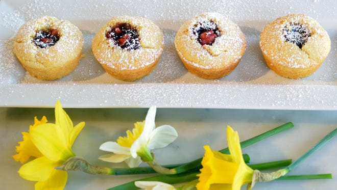 Fresh flowers make everything (including these corn muffins) look nicer.