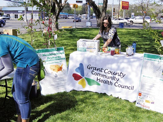 The fiscal administration of the Grant County Community Health Council will be moved from GRMC to the county, County Commissioners were told on Tuesday. The council sponsors many events, and had a booth at Saturday's Earth Day celebration at Gough Park in Silver City.   Randal Seyler - Sun-News