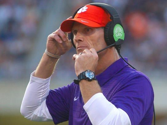 Clemson Tigers defensive coordinator Brent Venables,