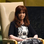 Argentinian President Cristina Fernandez de Kirchner speaks during the 69th Session of the U.N. General Assembly in New York on Sept. 24, 2014.