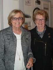 Caroline Schreder (left), and Mary Jane Spencer, both