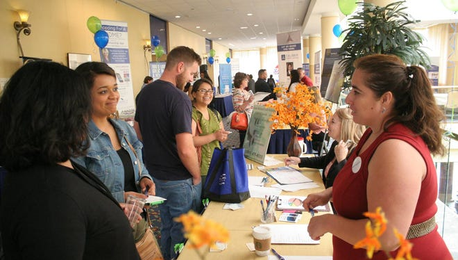 Homeownership experts answer questions during the first Home Buying Fair in Ventura in 2016. The event will return this Saturday.