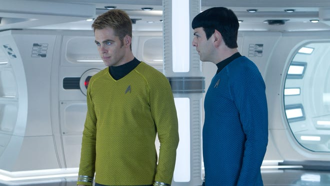 Chris Pine, left, and Zachary Quinto are Kirk and Spock for a new generation of 'Star Trek' fans.