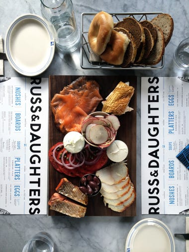 This 2014 photo provided by Russ & Daughters shows