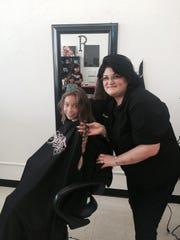 Bianka Navarrette and Hair Mechanix stylist Rosemarie