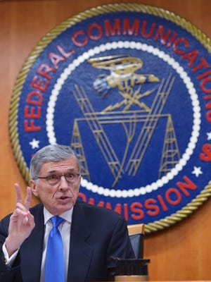 Federal Communications Commission Chairman Tom Wheeler speaks during a FCC hearing on the net neutrality on February 26, 2015 in Washington, DC.