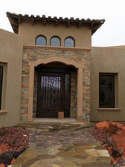 Lillywhite Stone created the entryway to this home, built by C. Blake Homes, at The Ledges development in St. George.