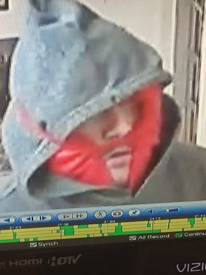 A man with a knife robbed Leslie's Party Store at 963 E. Michigan Ave. on Thursday.