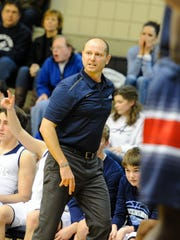 Ascension Episcopal coach Eric Mouton expressed frustration during Friday's game against Lafayette Christian Academy.