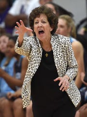 Jackson Academy head coach Jan Sojourner calls out