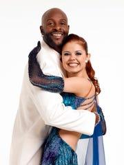 Jerry Rice partnered with Anna Trebunskaya on the second