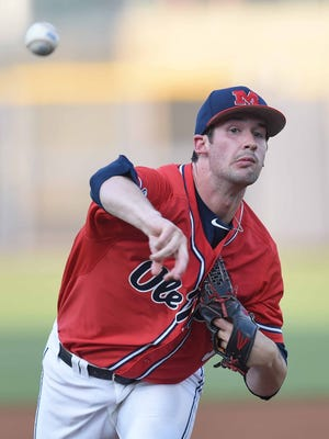 Ole Miss starting pitcher Chad Smith was selected by the Miami Marlins in the 11th round of the MLB draft on Saturday.