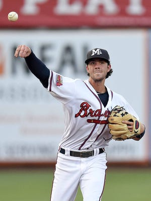MIssissippi Braves shortstop Dansby Swanson had a pair of hits and RBIs in the Braves' win over Mongtomery on Tuesday.
