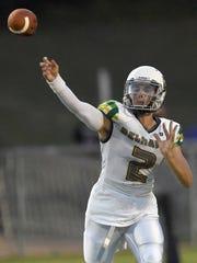 Belhaven quarterback Hunter McEachern makes a pass