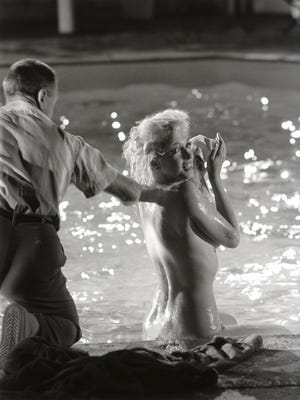 """Marilyn Monroe, seen here between scenes on the set of """"Something's Got to Give,"""" is being depicted in a Frank Furino play at the Indian Wells Theater in Palm Desert."""