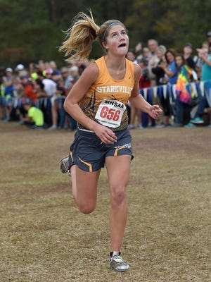 Starkville's Kate Mattox wins the Class 6A race, her sixth straight individual championship.