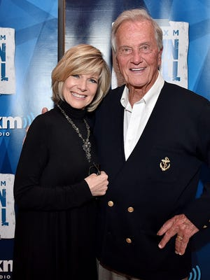 Singers Debby Boone and Pat Boone attend SiriusXM's Town Hall in Los Angeles.
