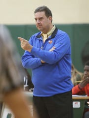 Salesian coach John Miressi will lead his team into the CHSAA 'B' city championship game against Regis at Fordham University on March 6, 2020.