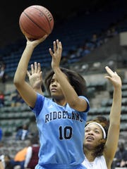 Ridgeland's Nina German (10) shoots after getting by