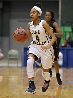 Senior Mahogany Vaught is one of the standouts for Oilve Branch, which has opened the season with 15 victories in 18 games.