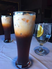 The Thai tea is included in the price of the special Friday menu. It has a slightly-sweet, spiced tea at the bottom with half and half on top.