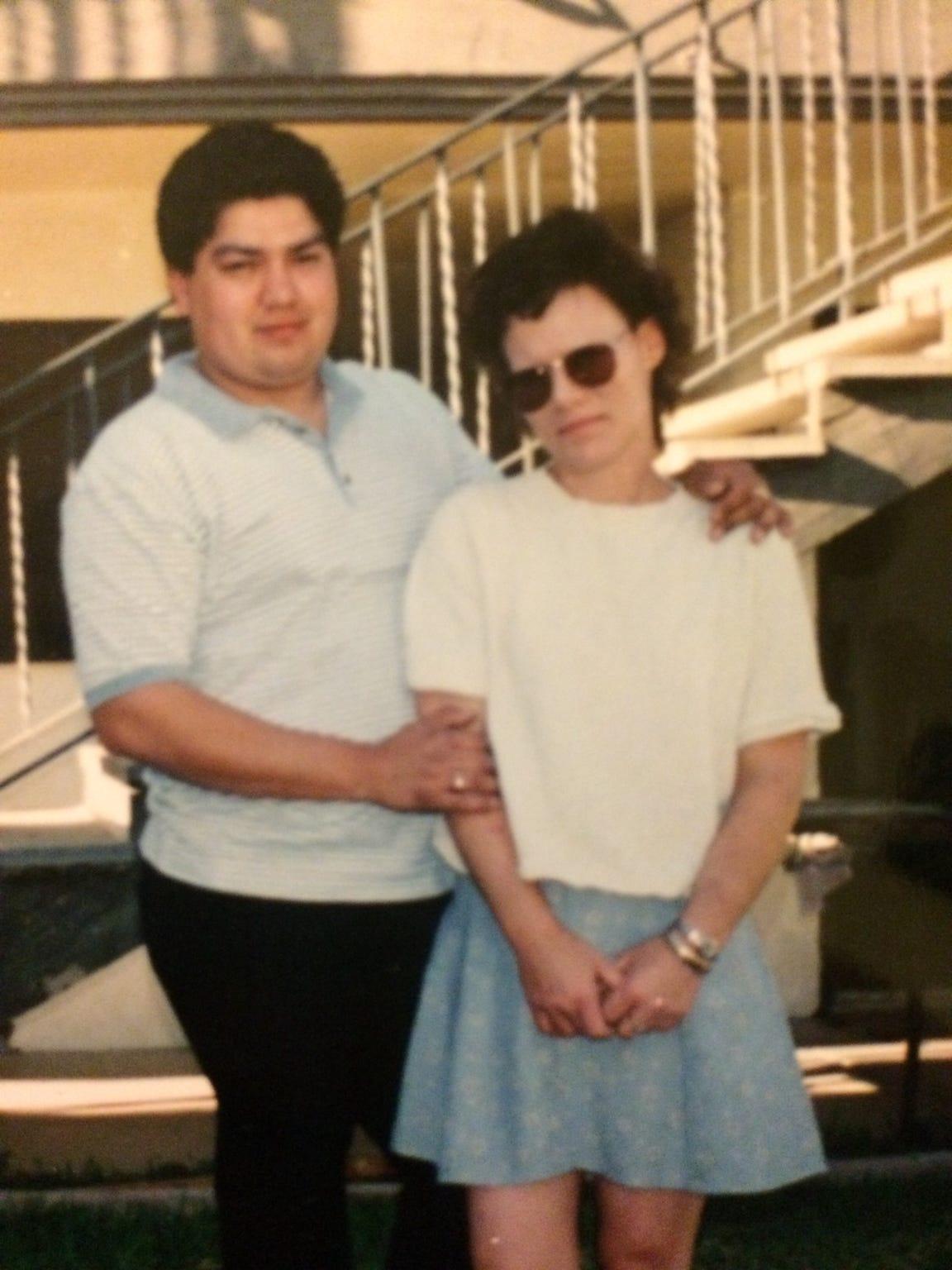 Luis Rios and his ex-wife Becky Rios.