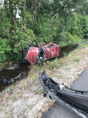 A man and woman have traumatic injuries after a two-vehicle crash April 27, 2017, at Southwest Martin Highway and Southwest Boatramp Avenue near Palm City.