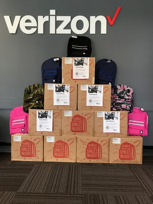 Verizon TCC stores will give out backpacks to families in need on Sunday from 1 p.m.- 4 p.m.