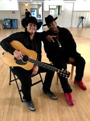 Joe Nichols and Sir Mix-A-Lot on the set of the video
