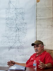Rutledge, Ala., Mayor Steve Phillips, shown at town hall in Rutledge on Thursday August 10, 2017.