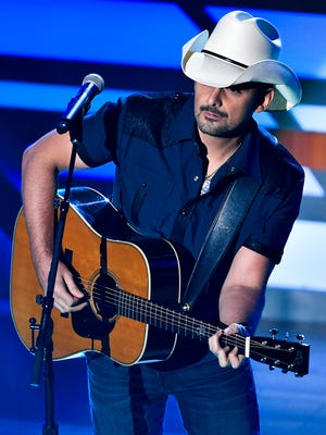 Brad Paisley performs during the 11th annual Academy of Country Music Honors at the Ryman Auditorium in Nashville, Tenn., Wednesday, Aug. 23, 2017.