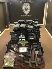 Items seized early Thursday by MPD during an investigation of a Yorktown-based marijuana operation.