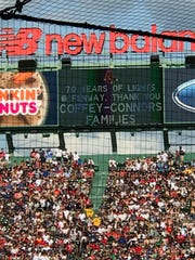 The Boston Red Sox thank the Coffey and Connors family