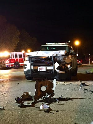 A Zanesville Police SUV suffered heavy damage following a crash on Thursday night on Brighton Boulevard. The driver of the SUV, Ptl. Stven Carles, 29, was injured and transported to Genesis Hospital, according to Sgt. Jeffrey Jirles of the Ohio State Highway Patrol. The crash remains under investigation.