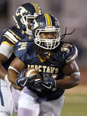 Senior running back Tiberias Lampkin, who rushed for 778 yards and 6 TDs this season, is Mississippi College's 2018 Conerly nominee.
