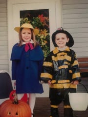 Former Miss Wisconsin Courtney Pelot and her brother Ty on Halloween 2001.
