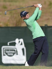 Ryan Armour tees off on the 10th hole on Thursday,
