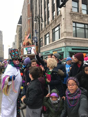 Southfield attorney Barry Goodman walked the Thanksgiving Day parade for the fourth year.