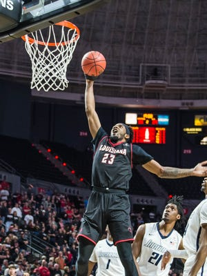 UL's JaKeenan Gant overcame a rough first half by scoring 15 points with eight rebounds in the second half of Thursday's 76-57 win over South Alabama.