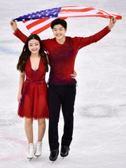 Bronze medal winners Maia Shibutani and Alex Shibutani