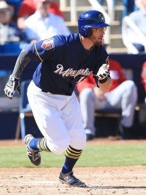 Brewers infielder Eric Sogard is healthy this spring and doesn't have to worry about securing a spot on the roster.