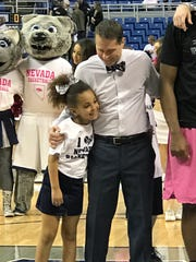Nevada men's basketball coach Eric Musselman and his