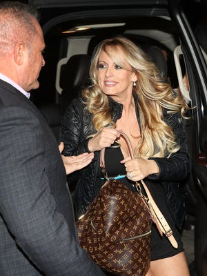 Stormy Daniels,arrives to perform at a Florida strip club earlier this month.